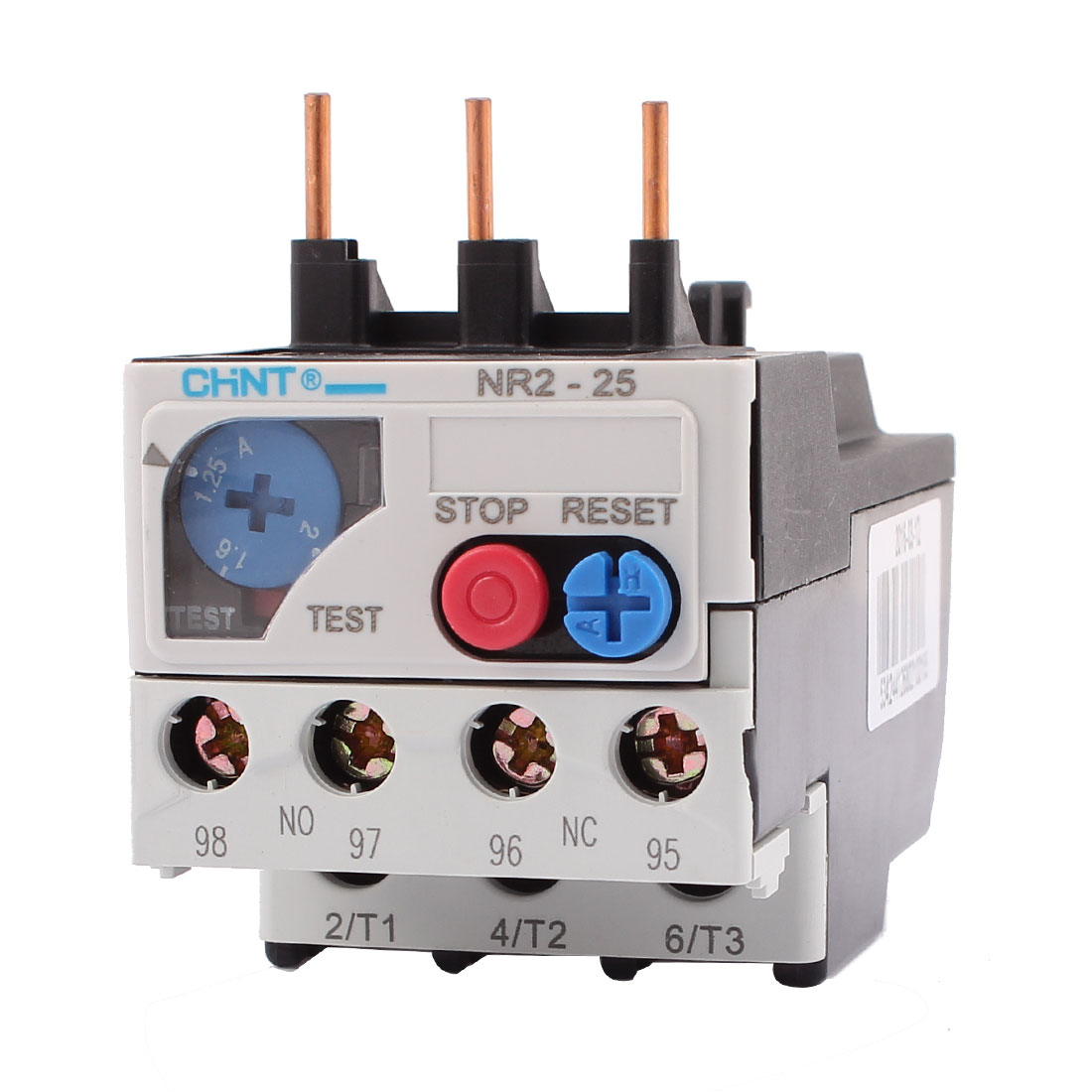 NR2-25 1.25-2A 3 Pole 1 NO 1 NC Motor Protector Electric Thermal Overload Relay