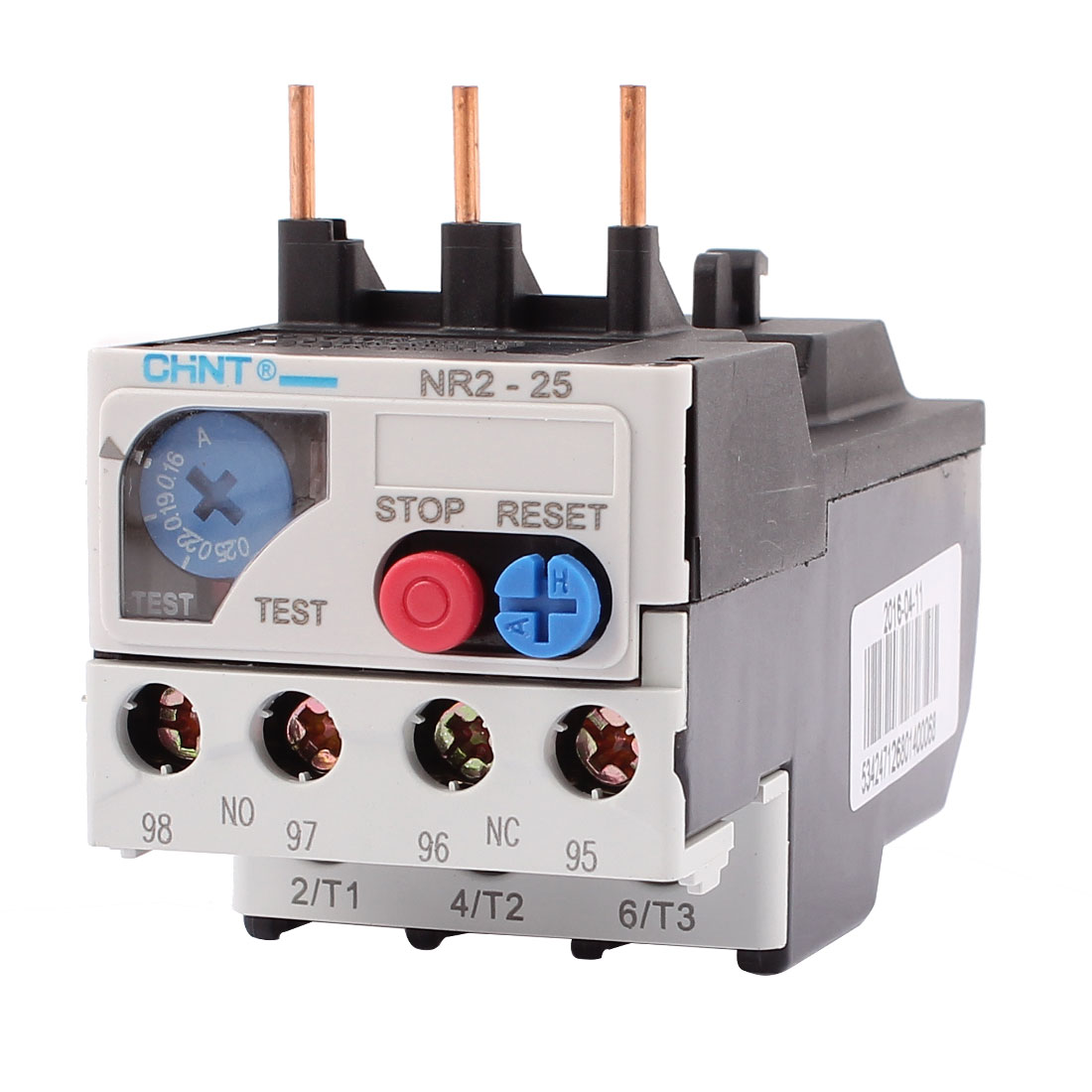 NR2-25 0.16-0.25A 3 Pole 1 NO 1 NC Motor Protector Electric Thermal Overload Relay
