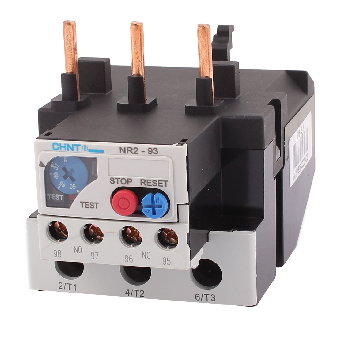 NR2-93 37-50A 3 Pole 1 NO 1 NC Motor Protector Electric Thermal Overload Relay