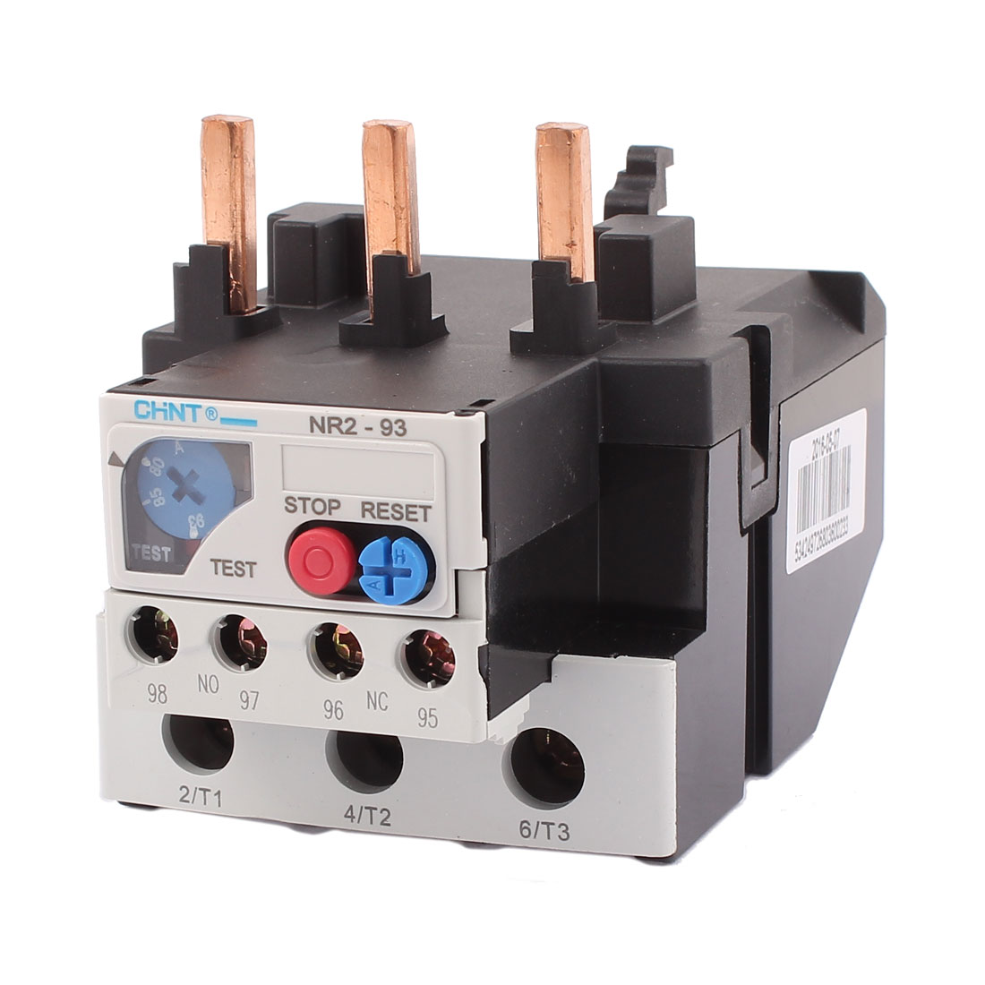 NR2-93 80-93A 3 Pole 1 NO 1 NC Motor Protector Electric Thermal Overload Relay
