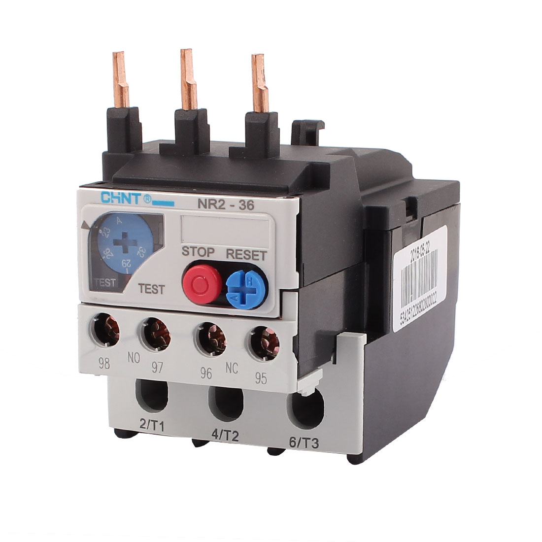 NR2-36 23-32A 3 Pole 1 NO 1 NC Motor Protector Electric Thermal Overload Relay