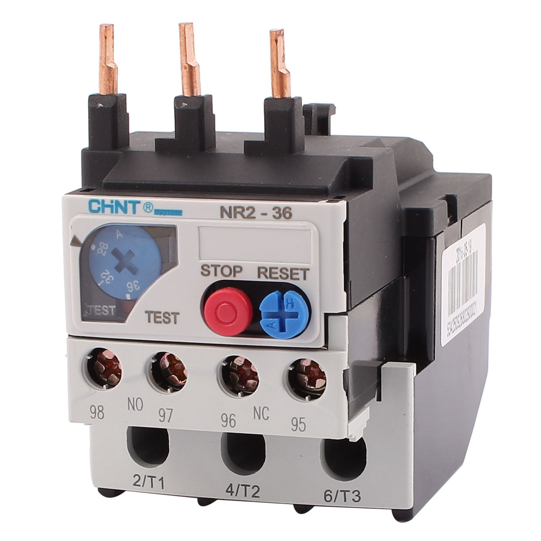 NR2-36 28-36A 3 Pole 1 NO 1 NC Motor Protector Electric Thermal Overload Relay