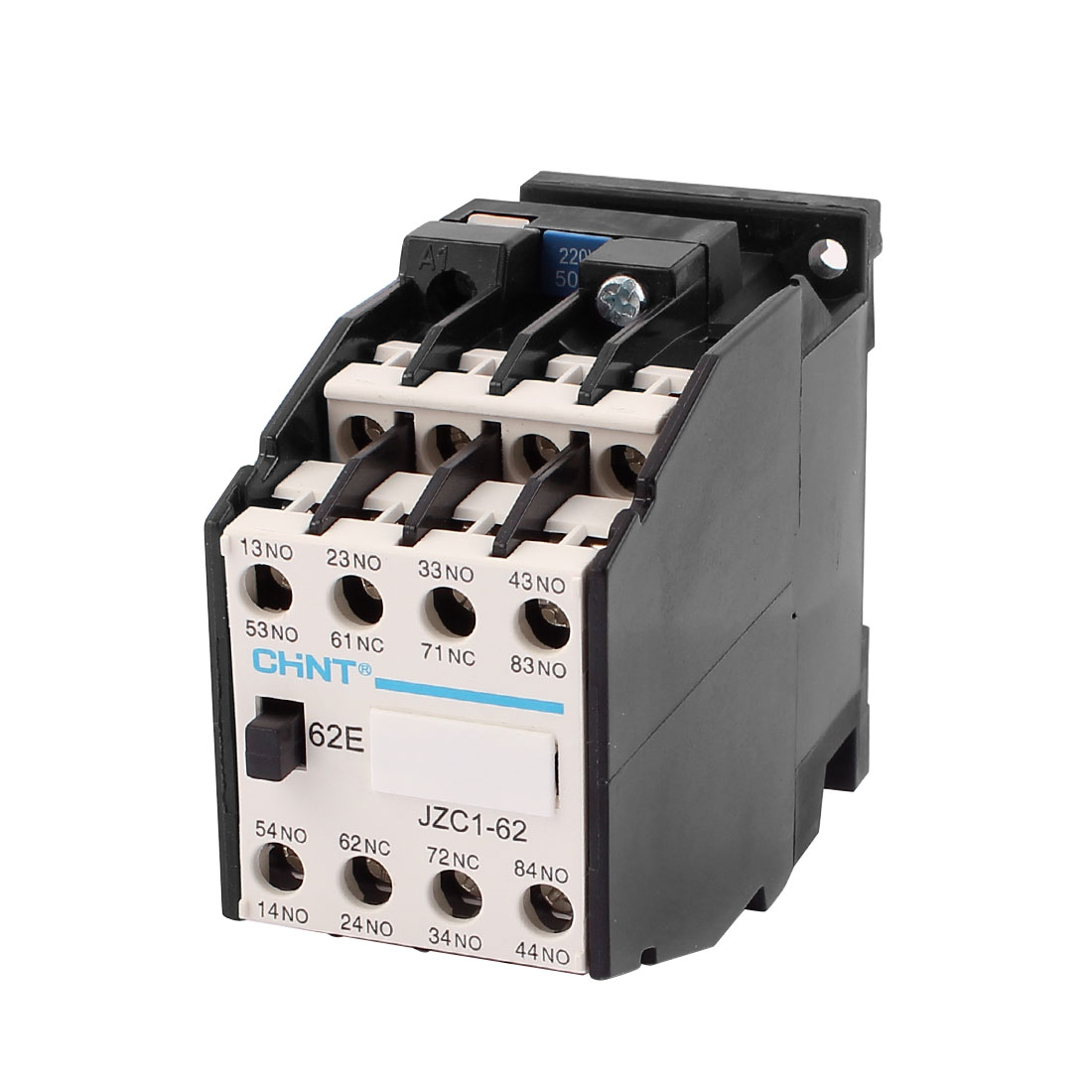 JZC1-62 50Hz 220V Coil Overload Protector 3 Phase 6NO + 2NC AC Contactor Relay