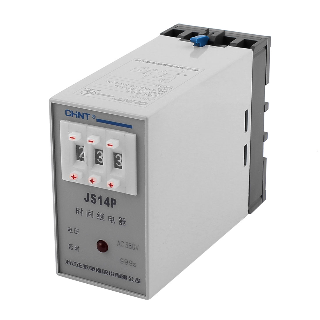 JS14P AC 380V 1-999 Seconds Three Adjustment Power On Delay Timer Digital Display Time Relay