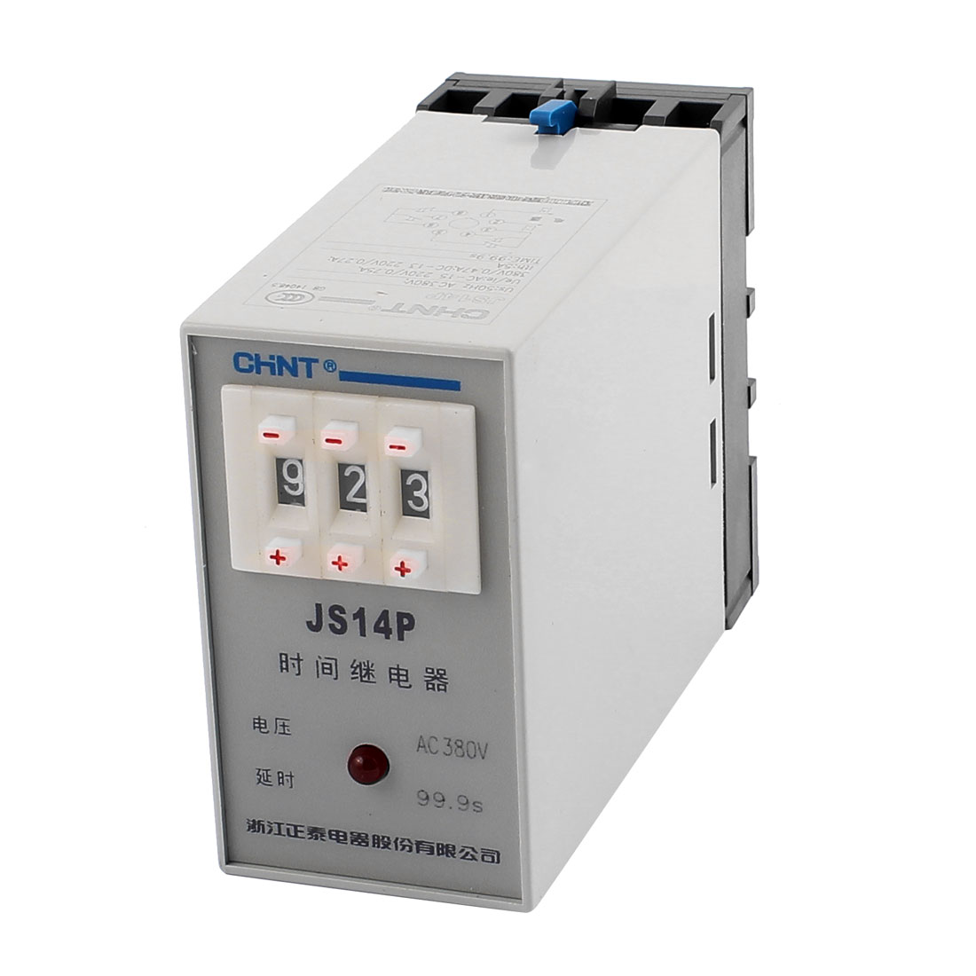 JS14P AC 380V 0.1-99.9 Seconds Two Adjustment Power On Delay Timer Digital Display Time Relay
