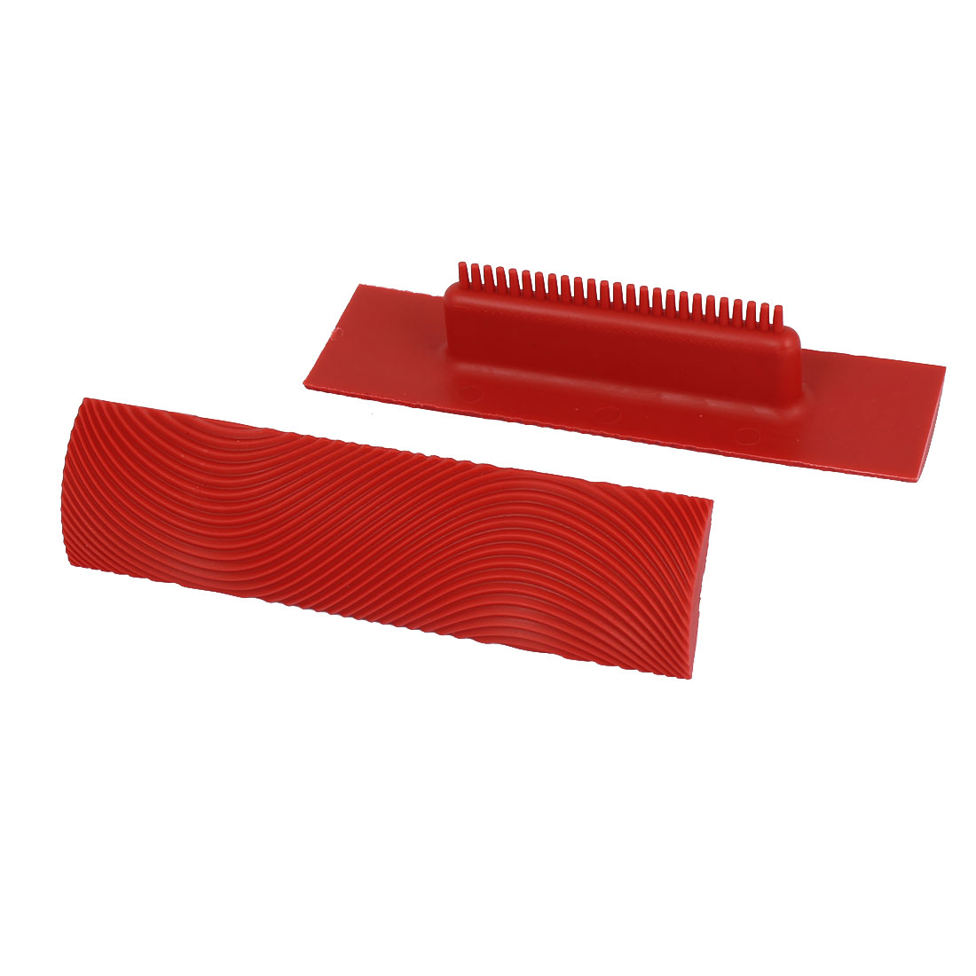 MS9 Home Household Wall Art Paint Rubber Wood Graining DIY Tool 6 Inch Red 2pcs