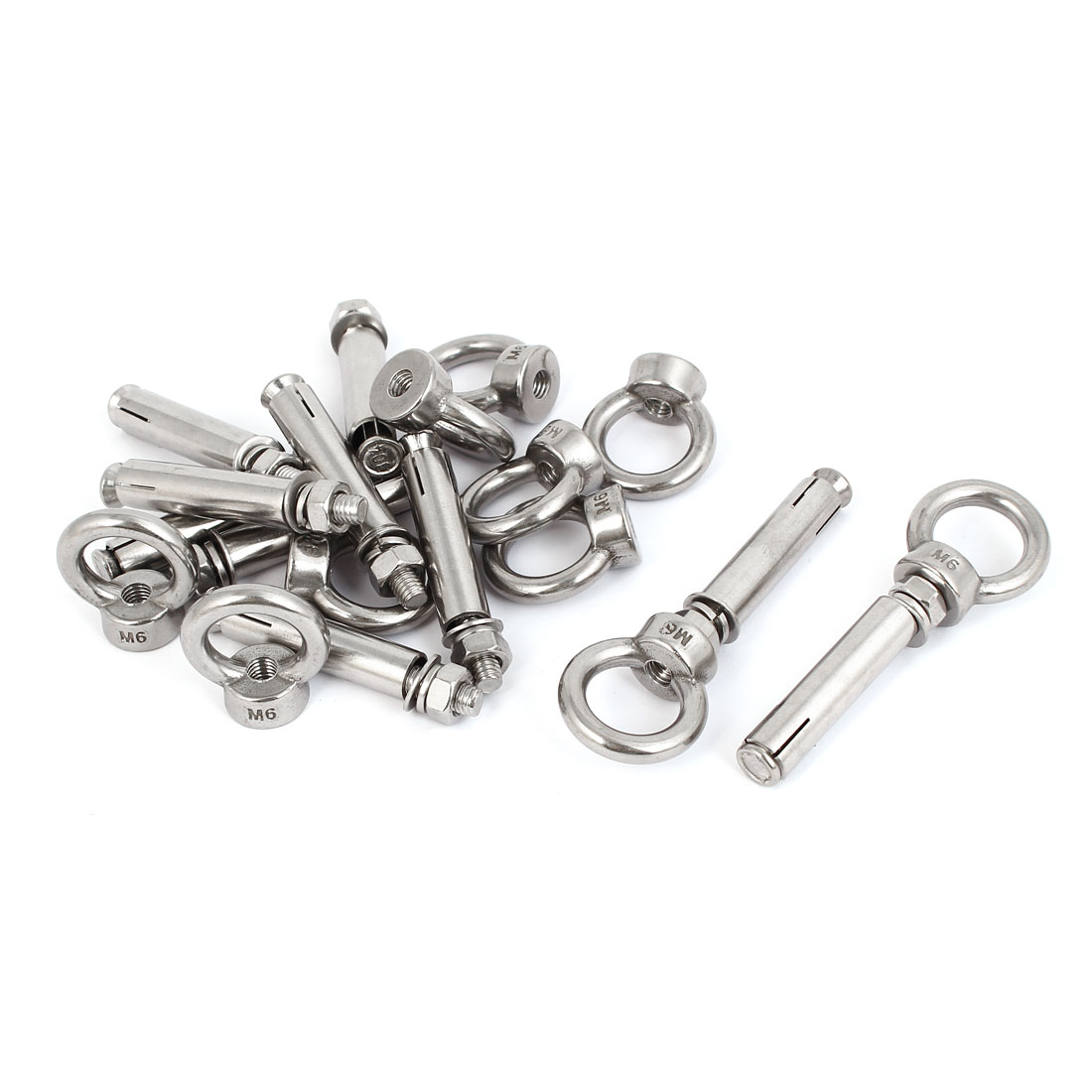 10pcs M6x60mm 304 Stainless Steel Expansion Screw Closed Hook Anchor Bolt