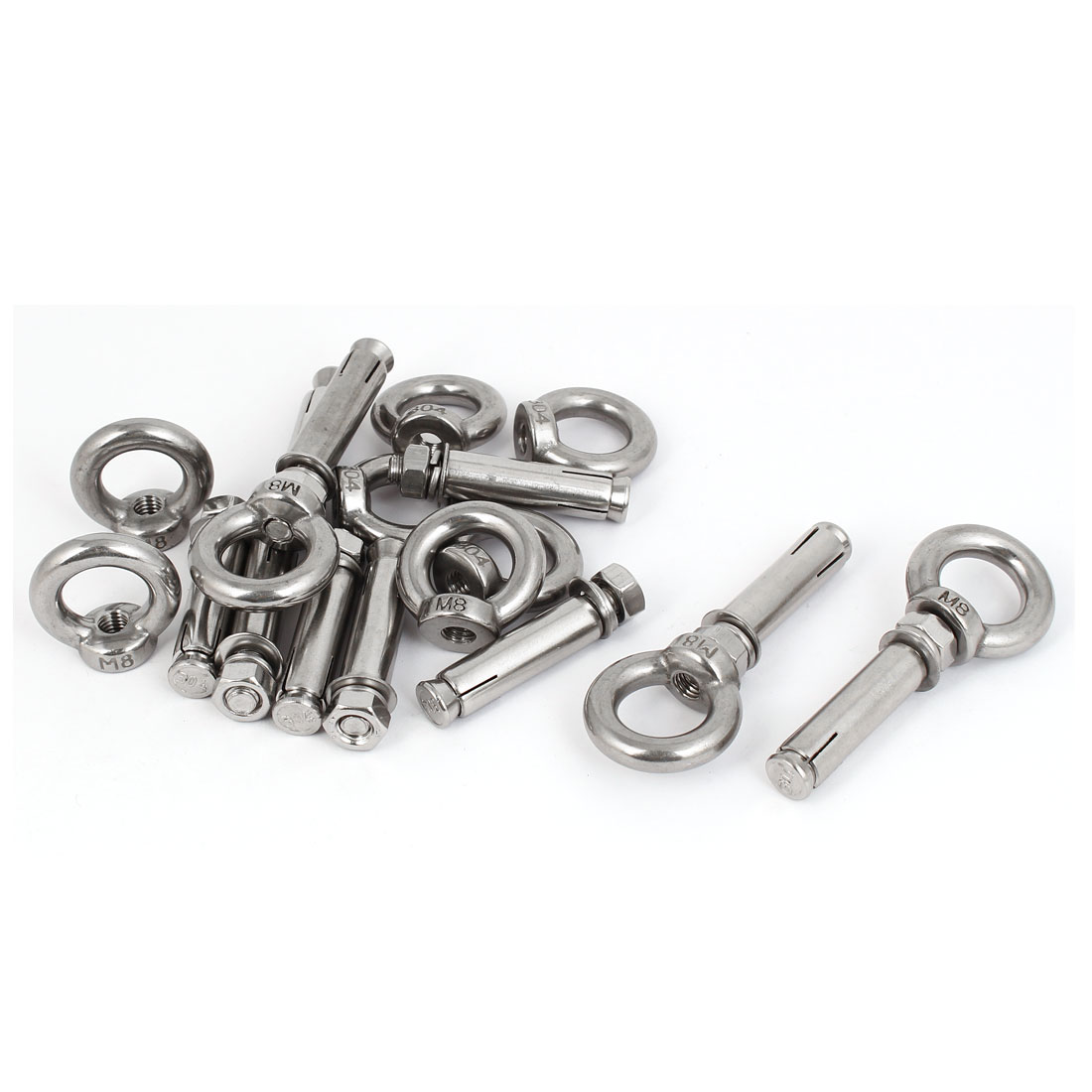 M8x60mm Expansion Screws Closed Hook Anchor Bolts 10pcs for Wall Concrete Brick