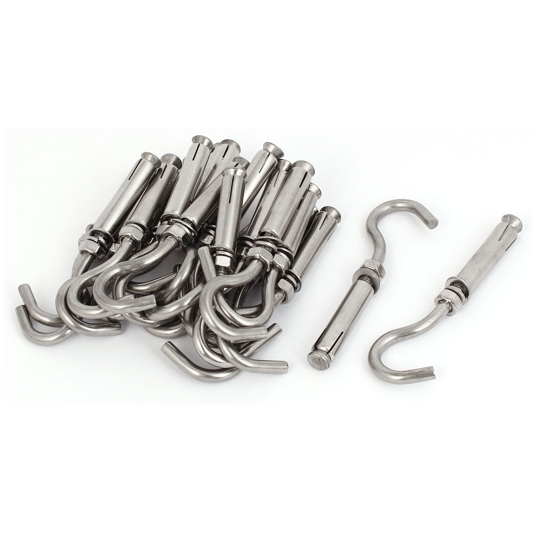 20pcs 304 Stainless Steel Expansion Anchor Bolt Open Cup Hooks M6