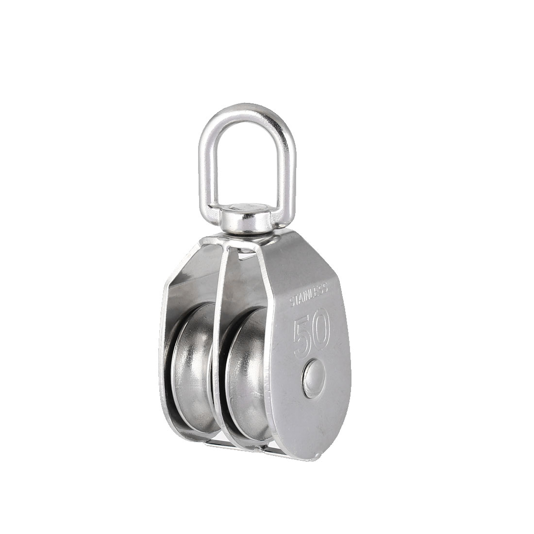 M50 304 Stainless Steel Double Sheave Swiveling Head Lifting Crane Pulley Block