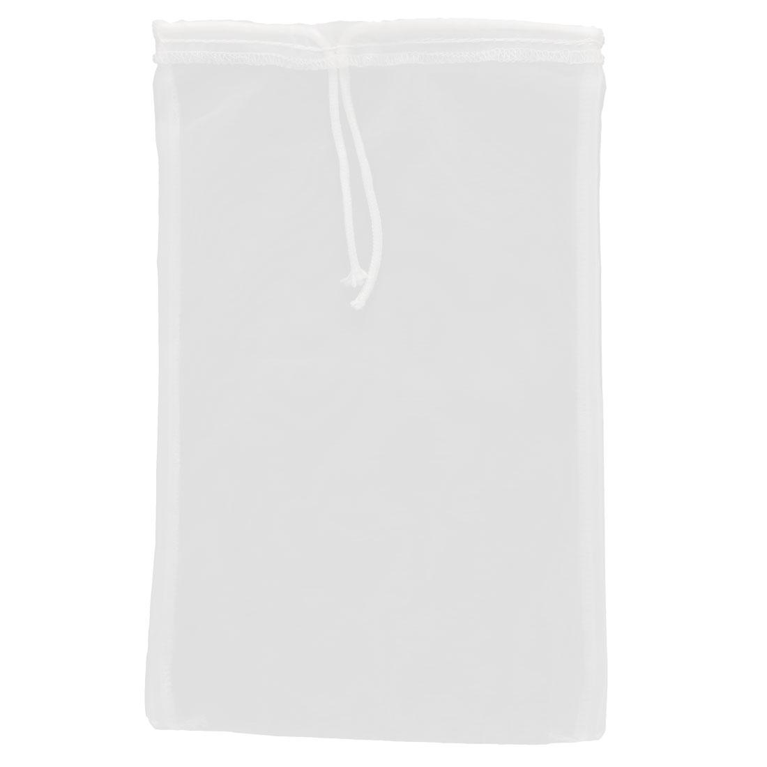 Home Kitchen Coffee Spices Soybean Milk Food Filter Bag White 31cm x 19cm