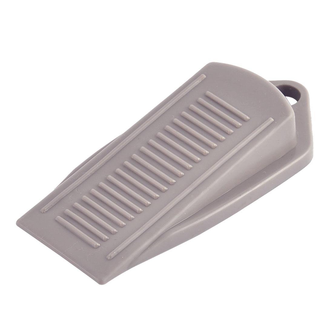 Household Office Soft Plastic Anti Slip Door Wedge Stopper Protector Gray