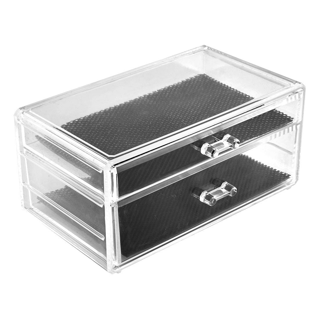 Household Acrylic Dual Layers Drawers Jewelry Makeup Dressing Case Organizer Display Box