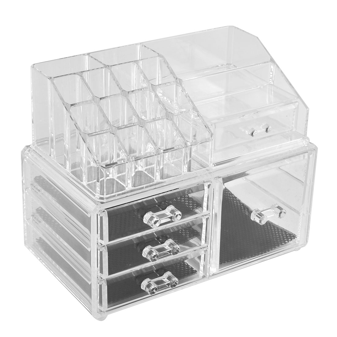 Home Acrylic Multilayers Jewelry Makeup Case Box Cosmetic Organizer Set 2 in 1