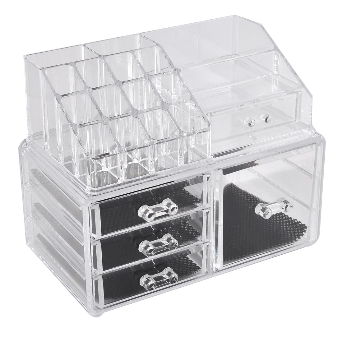 Lady Acrylic Cosmetic Storage Case Display Box Jewelry Organizer Set 2 in 1