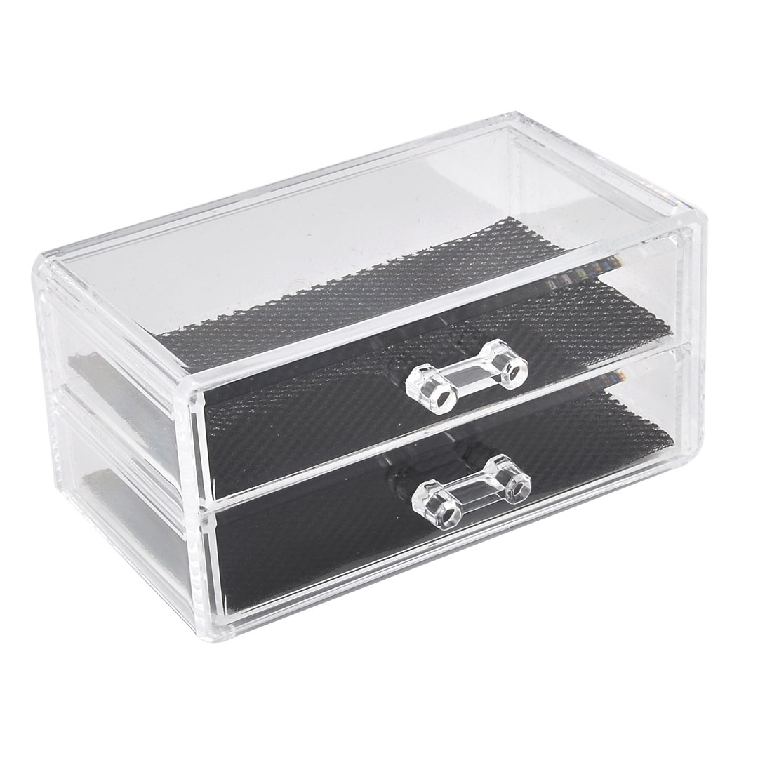 Lady Acrylic Cosmetic Drawer Storage Box Holder Case Makeup Organizer Clear