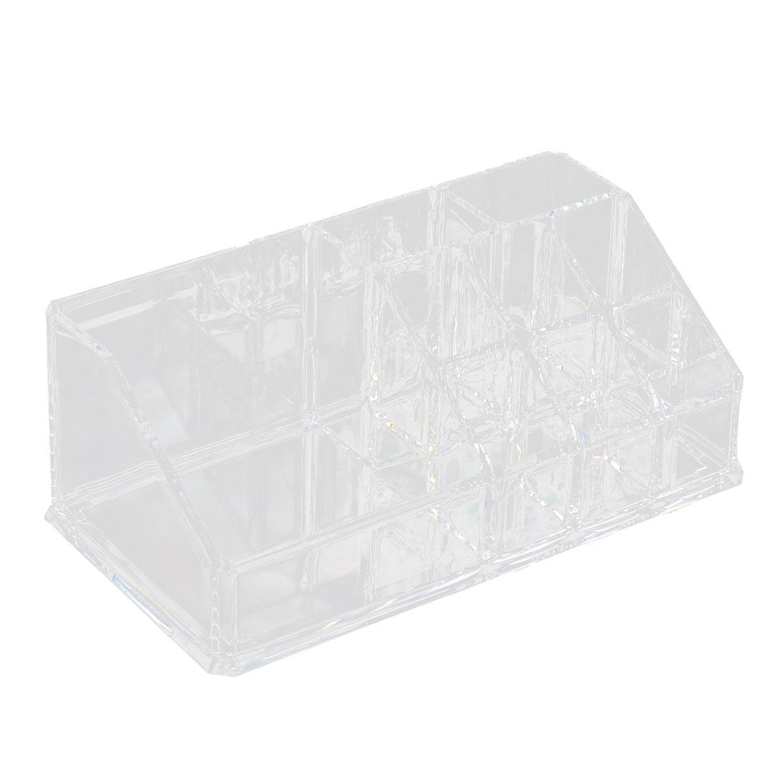 Acrylic 9-stand Trapezoid Makeup Cosmetic Organizer Display Stand Storage Box