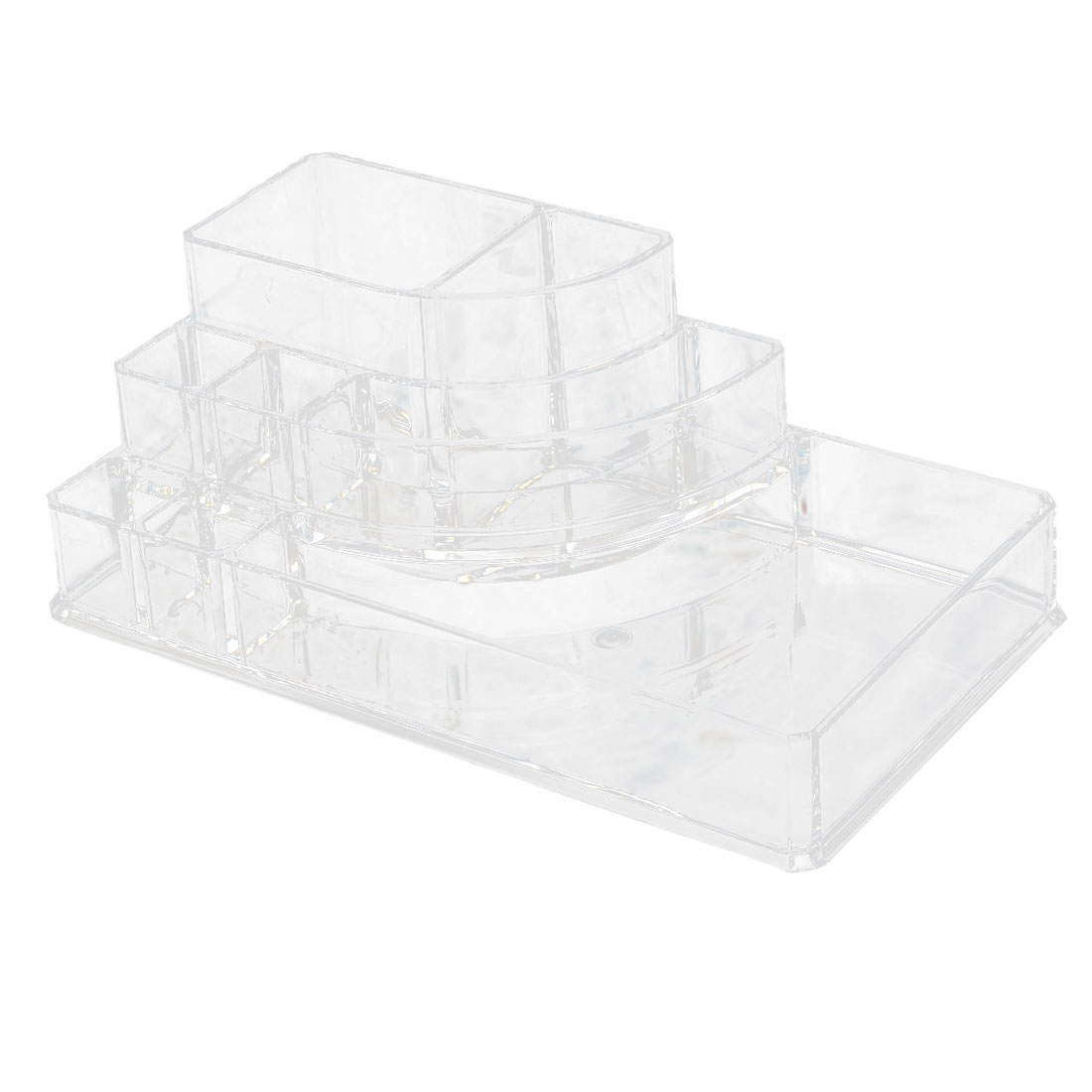 Household Acrylic 8 Slots Jewelry Storage Box Case Cosmetic Organizer Clear