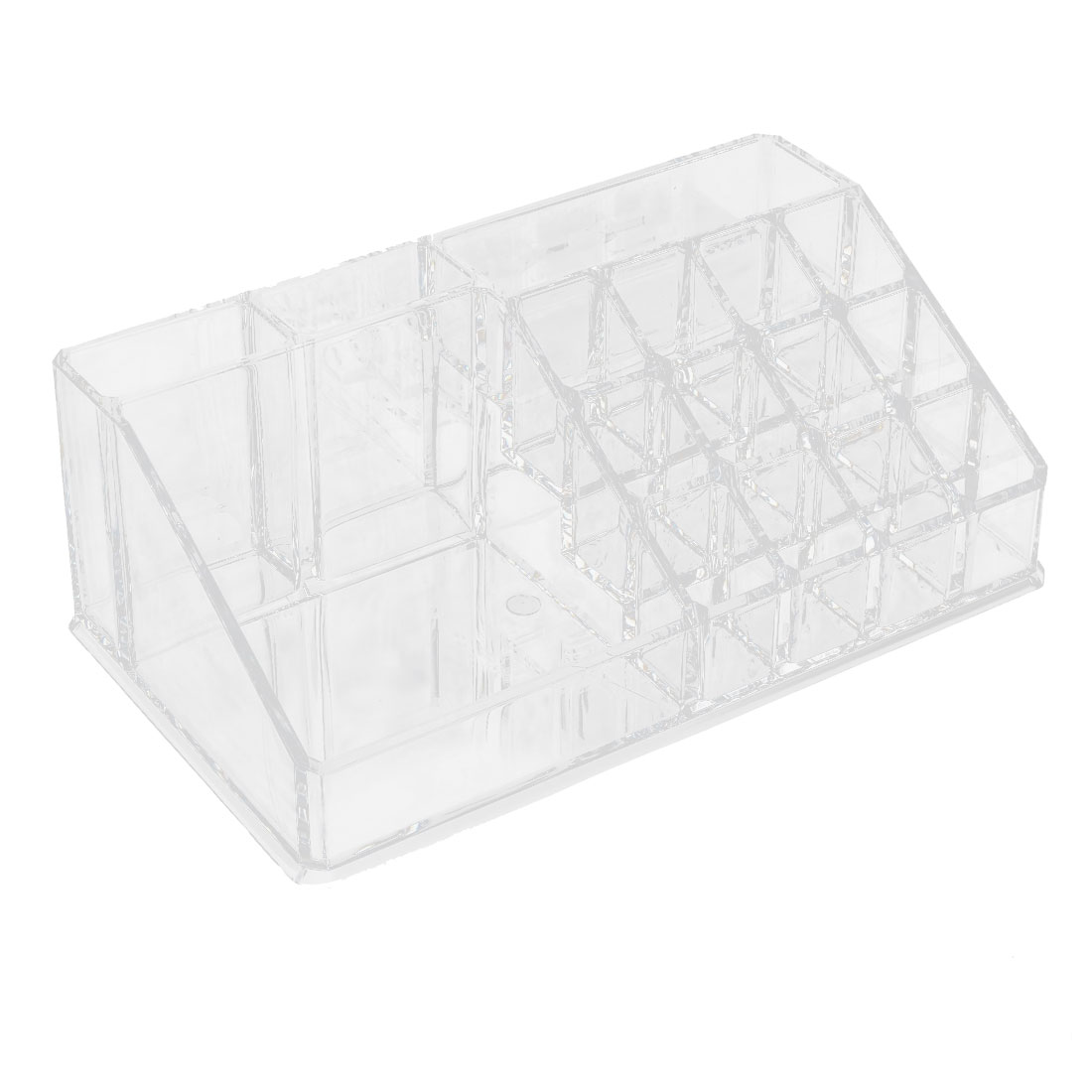 Acrylic 18-slot Trapezoid Makeup Cosmetic Organizer Display Stand Box Clear