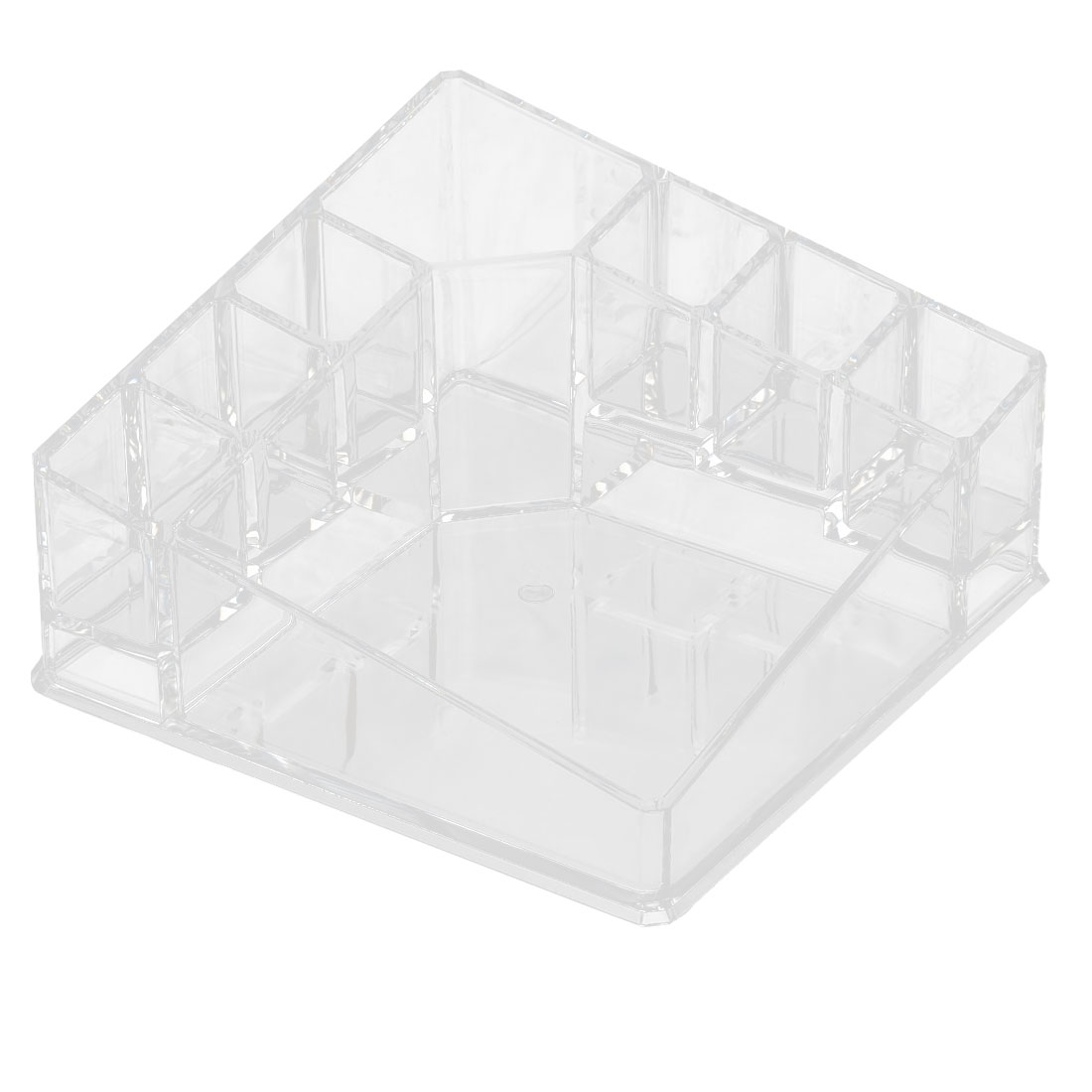 Household Acrylic 8 Slots Jewelry Makeup Storage Box Case Organizer Clear