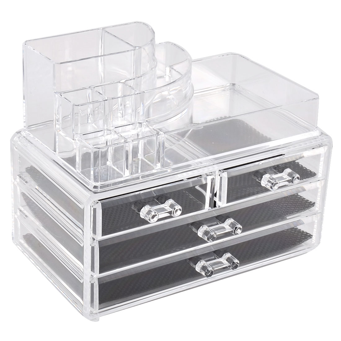 Acrylic Cosmetics Storage Case Display Box Jewelry Holder Organizer Set 2 in 1