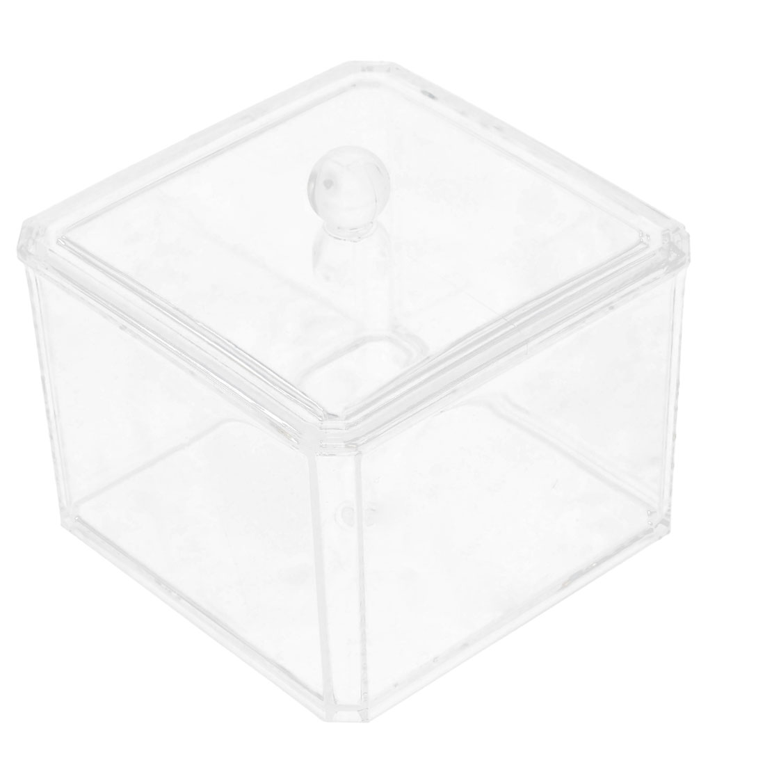 Acrylic Cotton Pad Bud Swab Container Box Storage Case w Lid