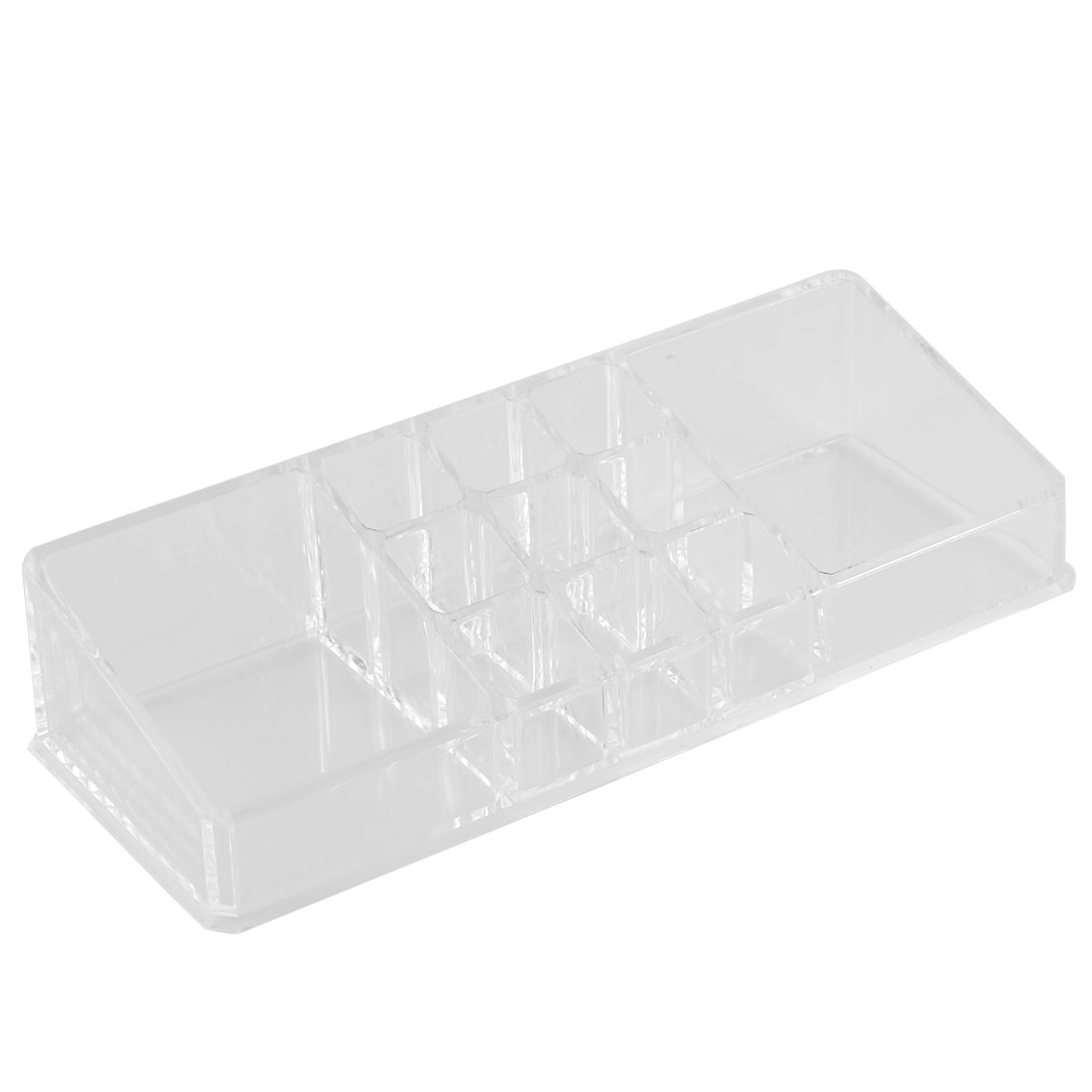 Household Acrylic Rectangle Shaped Jewelry Storage Box Earring Organizer Clear