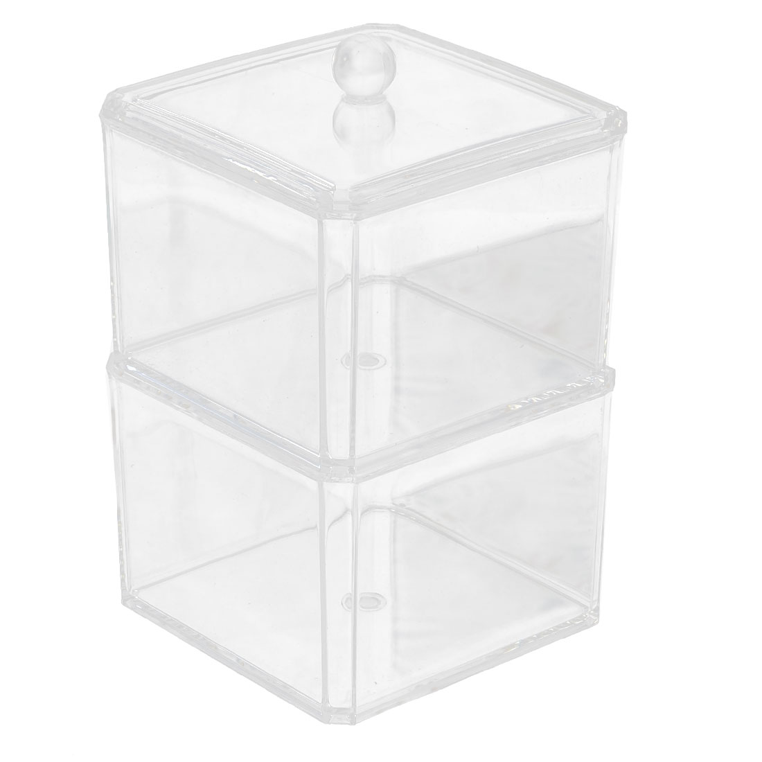 Acrylic Accessory Swab Holder Storage Box Cosmetic Organizer Set 2 in 1