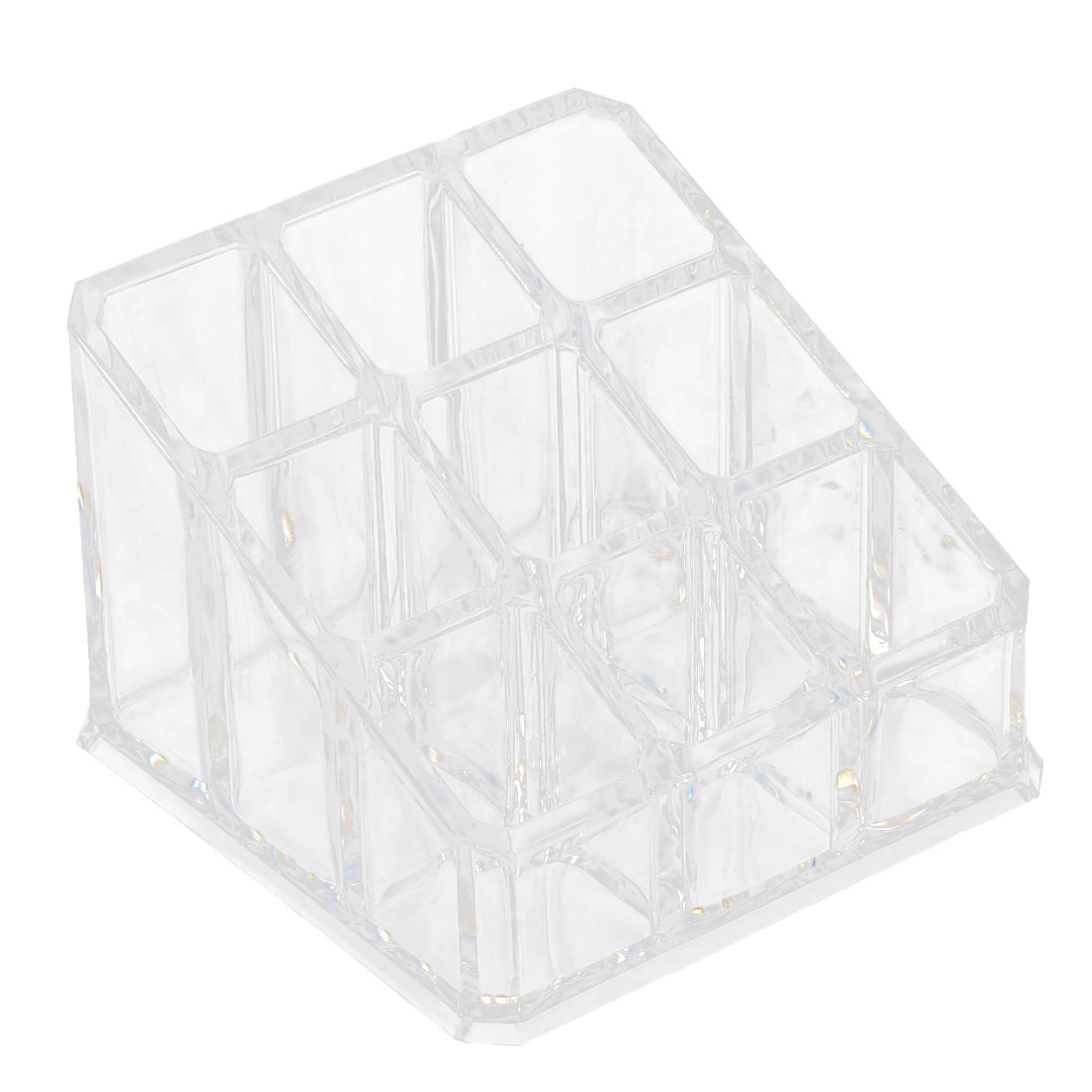 Acrylic 9-slot Trapezoid Makeup Cosmetic Organizer Lipstick Display Stand Storage Box