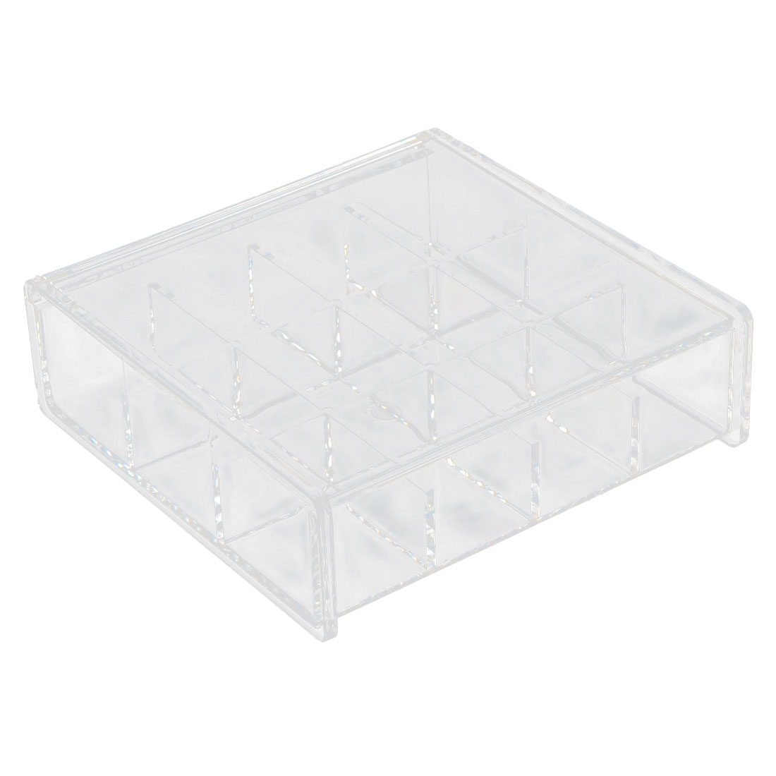 Household Acrylic Square Shaped Jewelry Makeup Necklace Box Organizer Clear