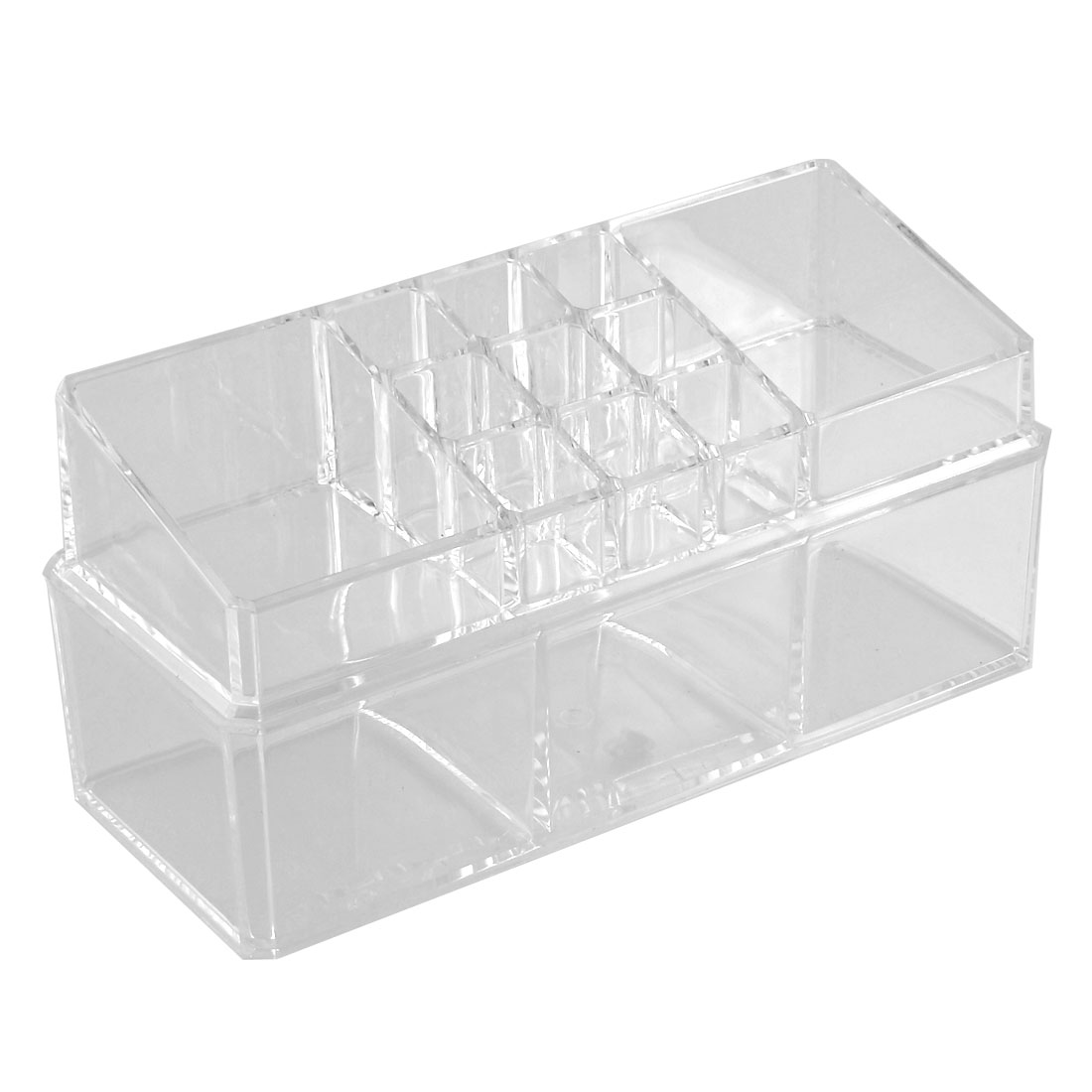 Household Acrylic Double Layers Jewelry Comestic Storage Case Organizer