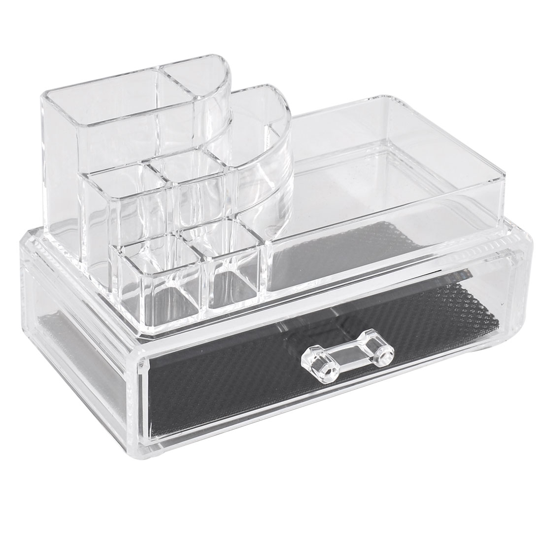 Lady Acrylic Cosmetic Storage Drawer Case Jewelry Organizer Holder Display Box Set 2 in 1