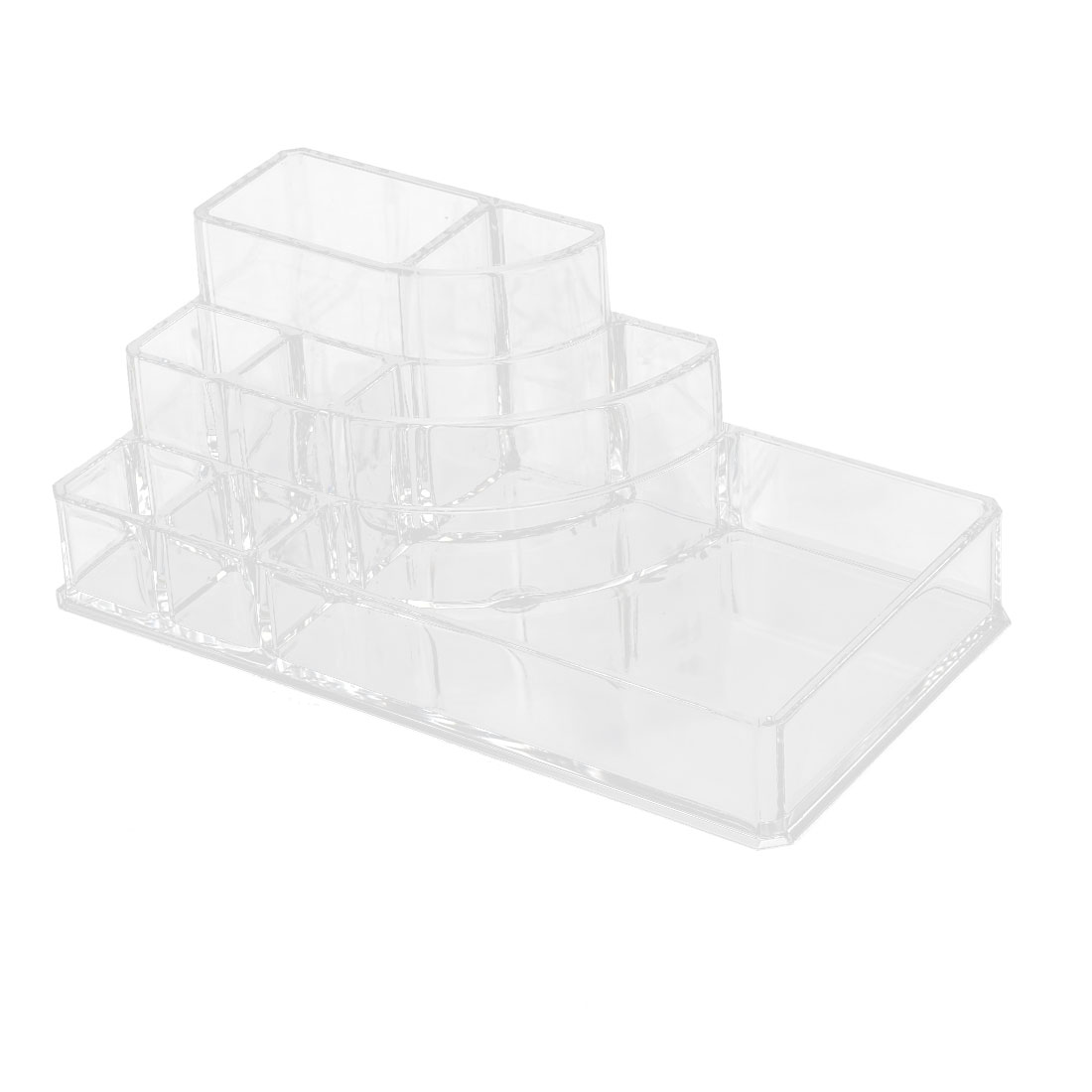 Household Acrylic 8 Slots Jewelry Makeup Storage Box Case Display Organizer Clear