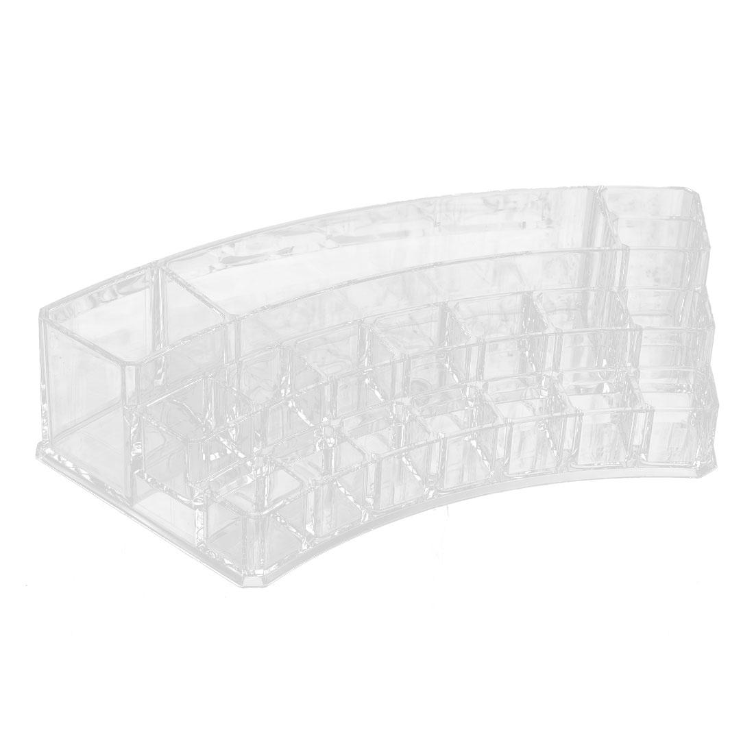 Acrylic Curved 18-slot Makeup Cosmetic Organizer Display Box