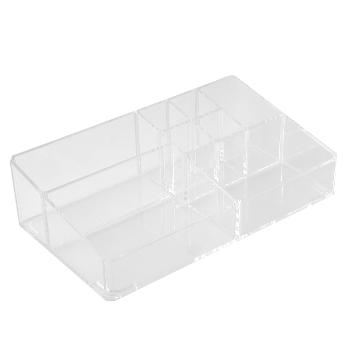 Household Acrylic Rectangle Shaped Jewelry Storage Box Case Organizer Clear