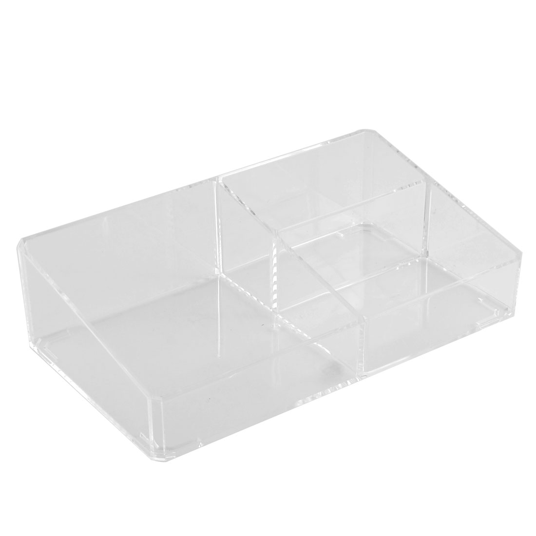 Home Acrylic Three Compartments Jewelry Case Organizer Storage Box Clear