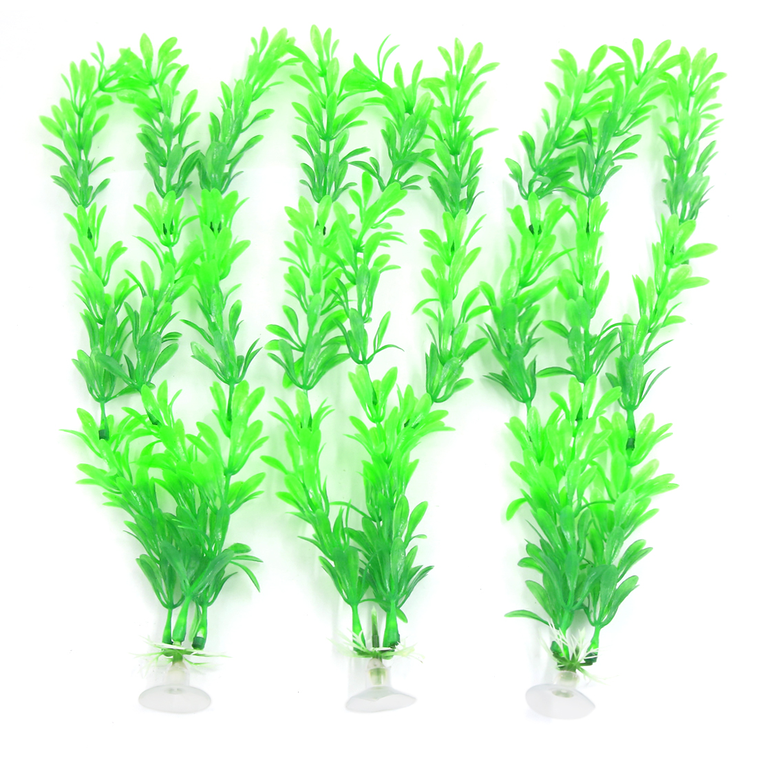 3 PCS 30cm High Green Aqua Landscape Aquarium Plastic Plant with Suction Cup