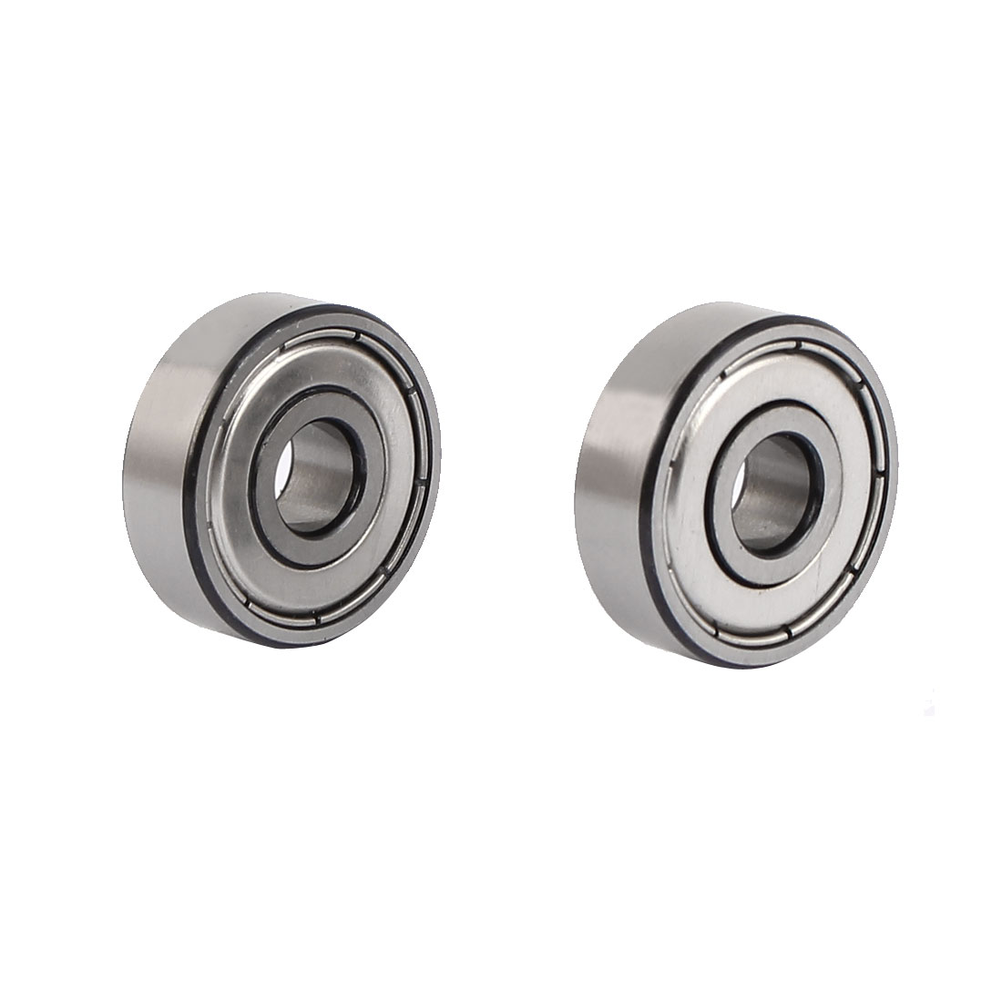 ZZ627 Dual Steel Shields Deep Groove Ball Bearing 22mmx7mmx7mm 2pcs