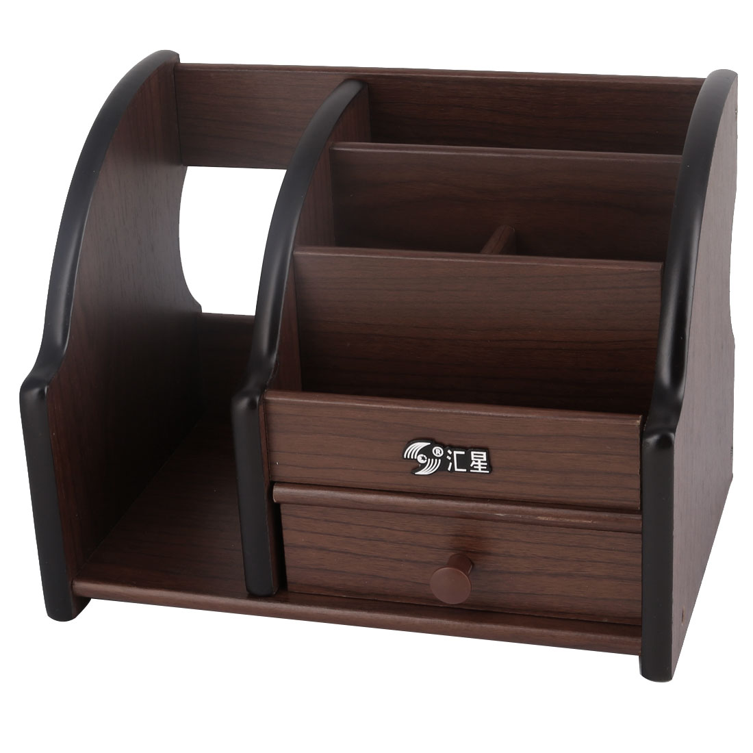 Desktop Wooden Storage Remote Control Cosmetic Pen Holder Box Case