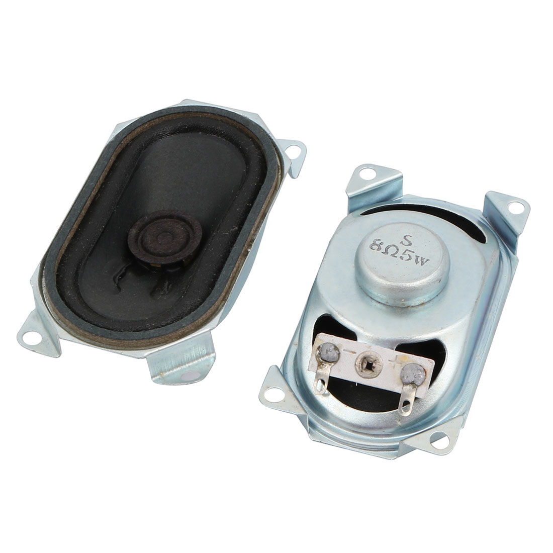 2Pcs 8 Ohm 5W 73mmx41mmx23mm Slim Internal Magnet Speaker for Toys