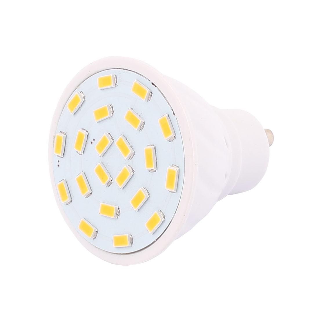 220V GU10 LED Light 3W 5730 SMD 21 LEDs Spotlight Down Lamp Bulb Warm White
