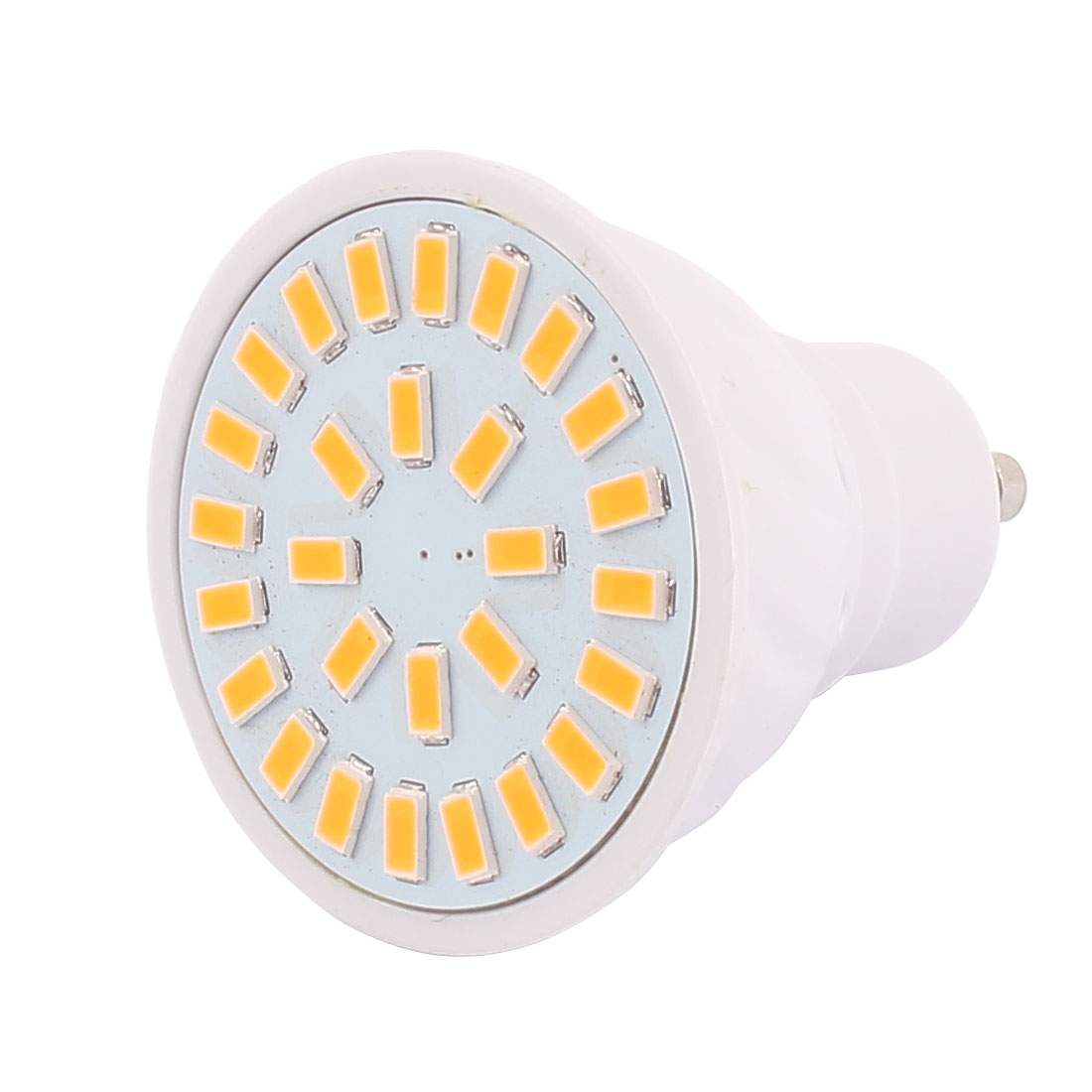 220V GU10 LED Light 4W 5730 SMD 28 LEDs Spotlight Down Lamp Bulb Warm White