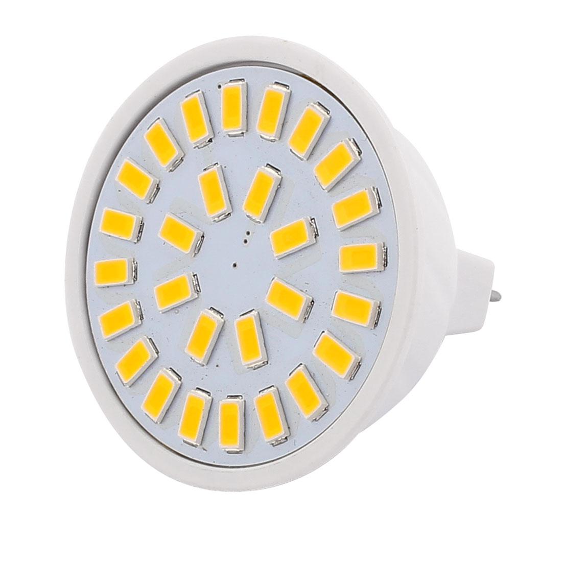 220V 5W MR16 5730 SMD 28 LEDs LED Bulb Light Spotlight Lamp Lighting Warm White