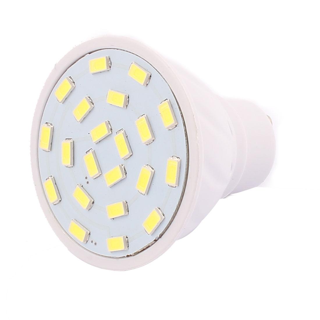 220V GU10 LED Light 3W 5730 SMD 21 LEDs Spotlight Down Lamp Bulb Cool White