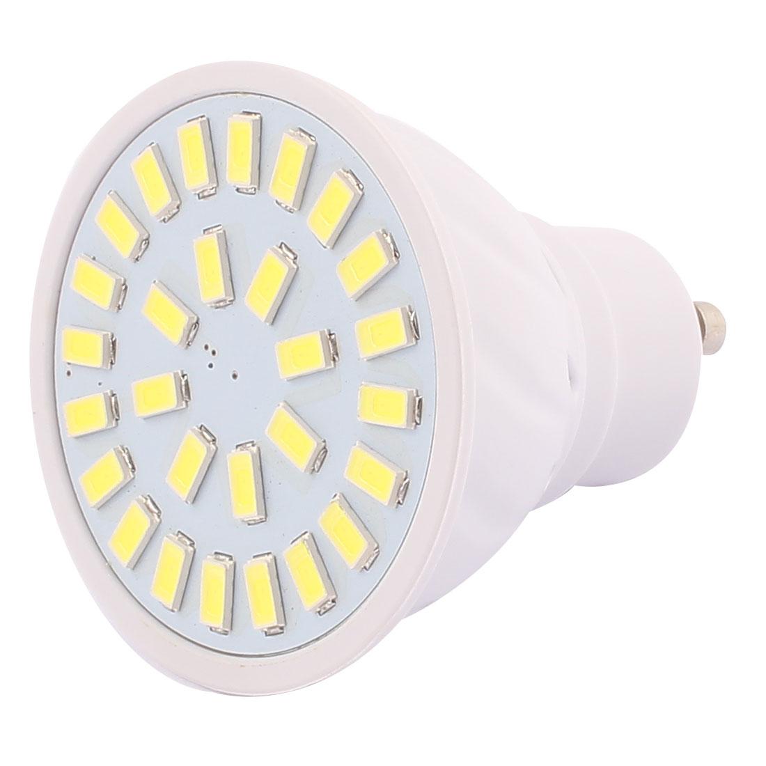 220V GU10 LED Light 4W 5730 SMD 28 LEDs Spotlight Down Lamp Bulb Cool White