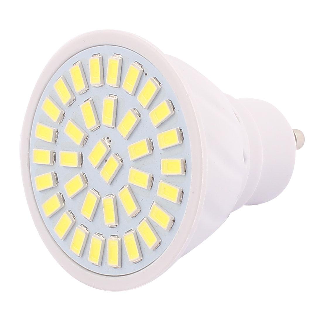 220V GU10 LED Light 5W 5730 SMD 35 LEDs Spotlight Down Lamp Bulb Cool White