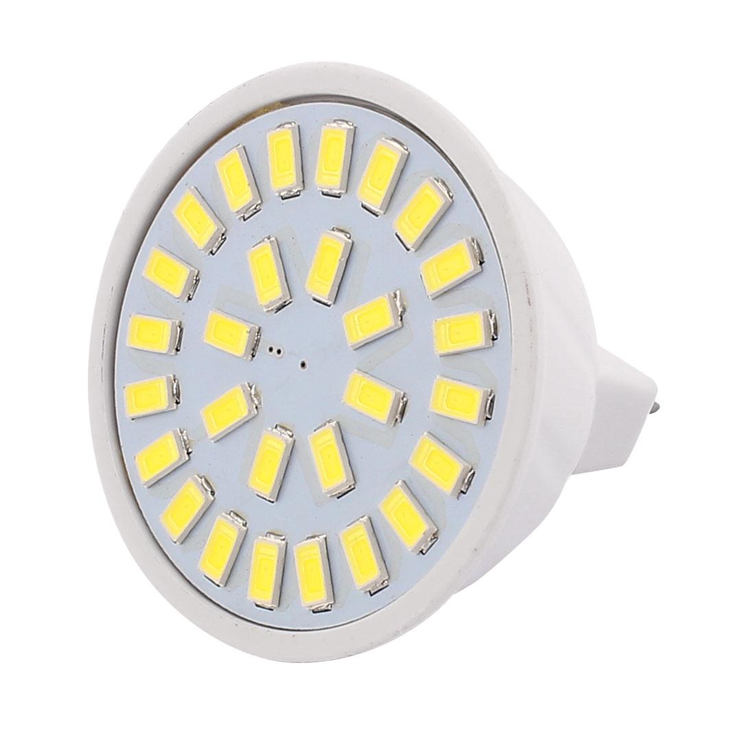 220V 5W MR16 5730 SMD 28 LEDs LED Bulb Light Spotlight Lamp White