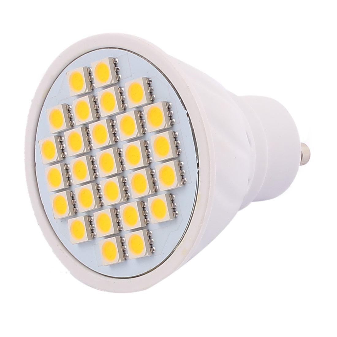 220V-240V GU10 LED Light 4W 5050 SMD 27 LEDs Spotlight Down Lamp Bulb Energy Save Warm White