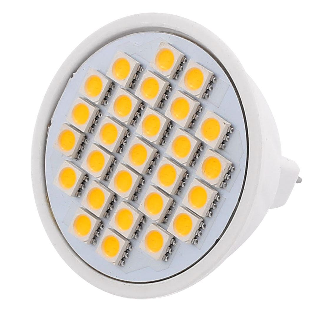 220V-240V 5W MR16 5050 SMD 27 LEDs LED Bulb Light Spotlight Lamp Warm White