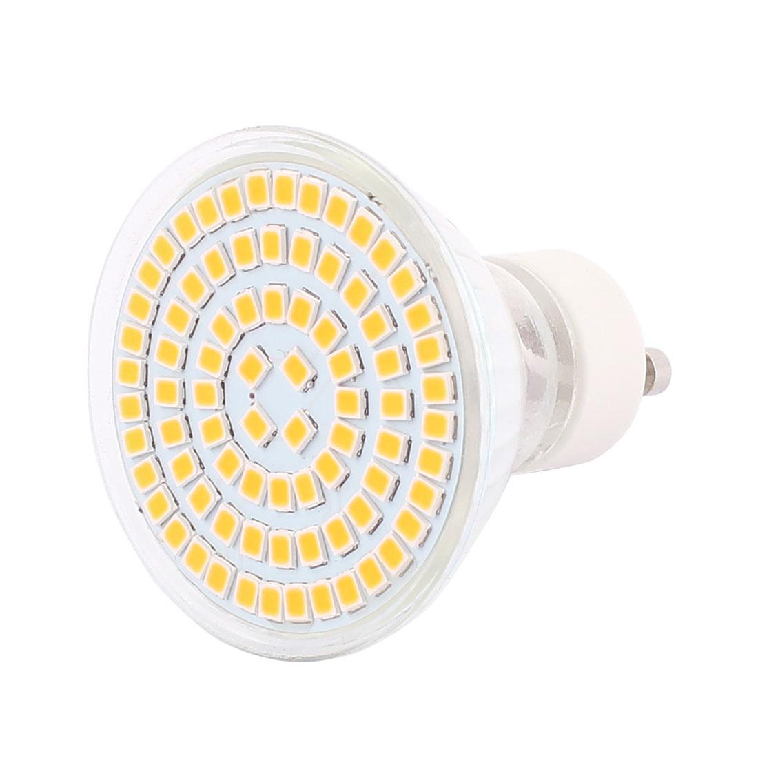 220V GU10 LED Light 8W 2835 SMD 80 LEDs Spotlight Down Lamp Bulb Lighting Warm White